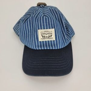 NWT Levi's Hat baseball cap blue pinstripes white